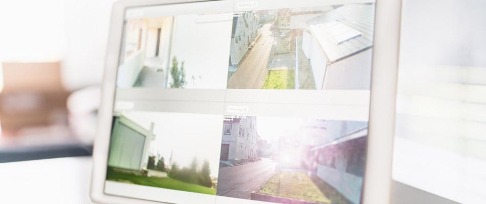 Überwachungsanlage mit Videokamera